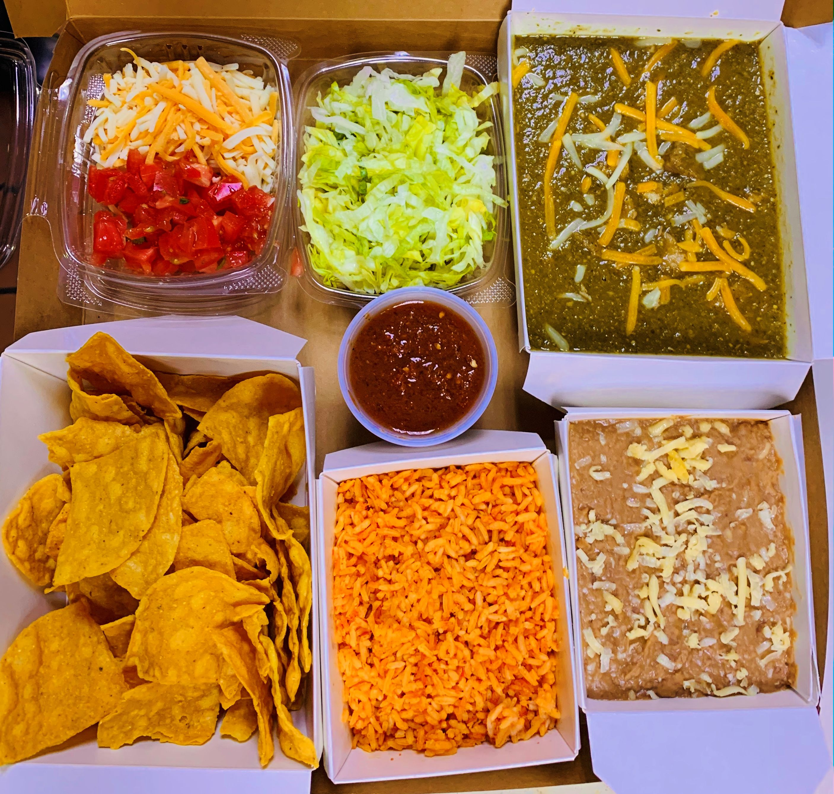 Mexican Bento Box at Guadalajara Grill, Bar, & Table Side Salsa in Tucson Arizona.