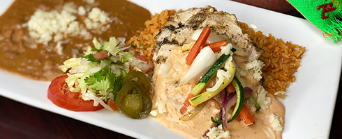 Chipotle Chicken Breast at Guadalajara Grill, Bar, & Table Side Salsa in Tucson Arizona.