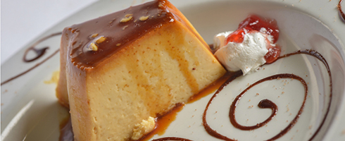 Flan at Guadalajara Grill, Bar, & Table Side Salsa in Tucson Arizona.